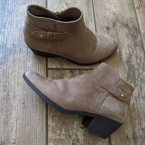 Forever 21 | Ankle Boots Booties Tan Suede